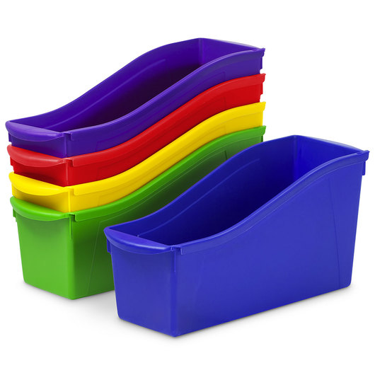 Storex Large Book Bins Multicolor - Set of 5