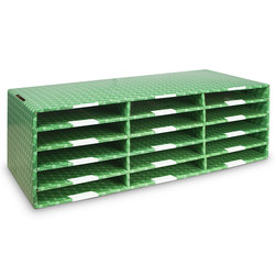Corrugated Classroom Storage - 15-Compartment Construction Paper Sorter
