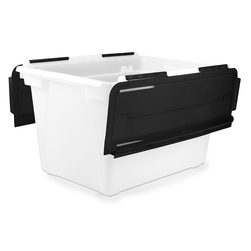 Flip-Top Storage Tub - 22-1/2 in. L x 15 in. W x 13 in. H
