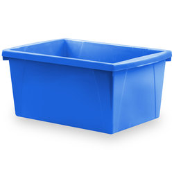 Classroom 5-1/2-Gallon Storage Bin - 16-3/4 in. L x 11-7/8 in. W x 8-5/16 in. H - Blue
