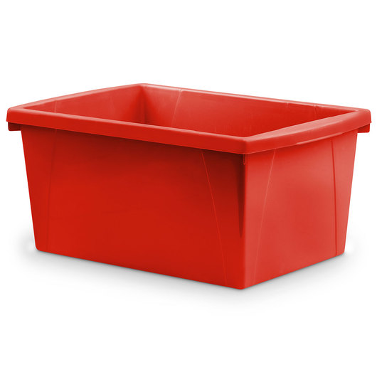 Classroom 5-1/2-Gallon Storage Bin - 16-3/4 in. L x 11-7/8 in. W x 8-5/16 in. H - Red
