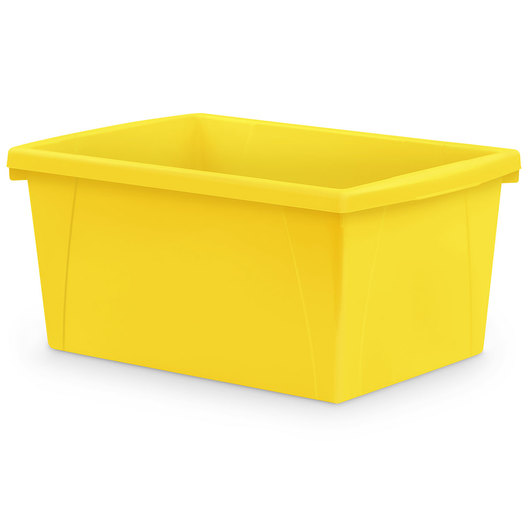 Classroom 5-1/2-Gallon Storage Bin - 16-3/4 in. L x 11-7/8 in. W x 8-5/16 in. H - Yellow