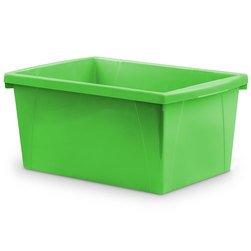 Classroom 5-1/2-Gallon Storage Bin - 16-3/4 in. L x 11-7/8 in. W x 8-5/16 in. H - Green