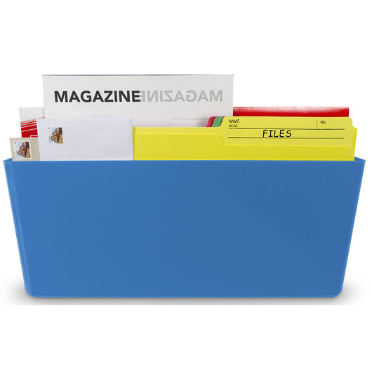 Magnetic Wall Pocket - Legal Size - 16 in. L x 4 in. W x 7 in. H - Blue