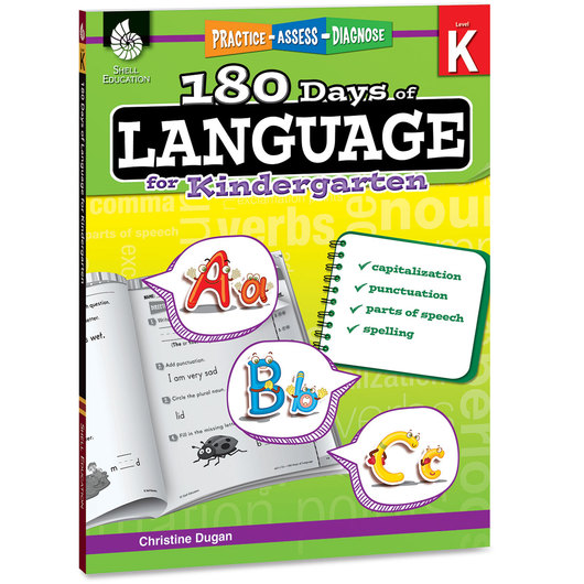180 Days of Language Book - Kindergarten
