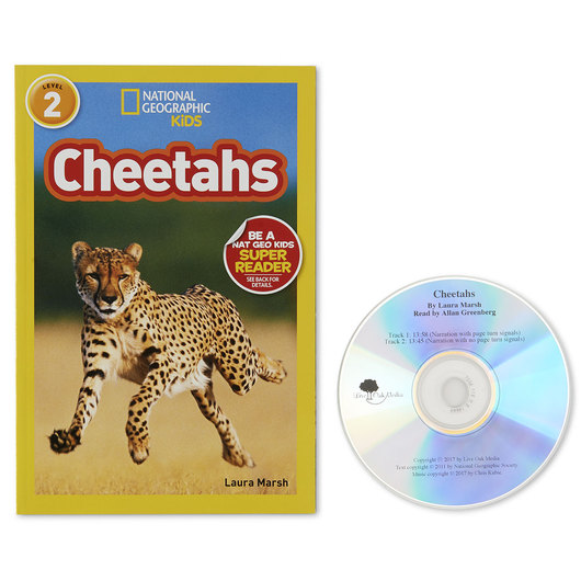 National Geographic Level 2 Read-Along Book with CD - Cheetahs
