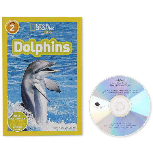 National Geographic Level 2 Read-Along Book with CD - Dolphins