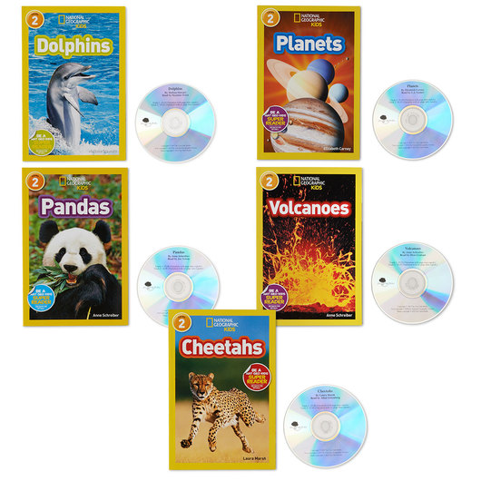 National Geographic Read-Along Books - Complete Set of Level 2 Readers with CDs