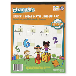 Channie's™ Quick & Neat Math Line-Up Pads - Single-Digit Math
