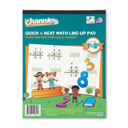 Channie's™ Quick & Neat Math Line-Up Pads - Double-Digit Math