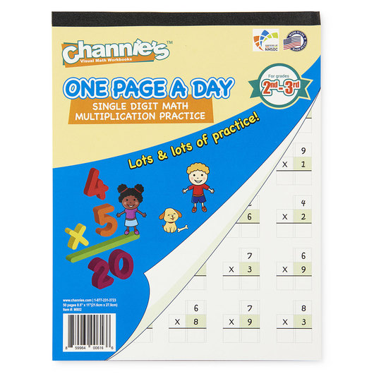 Channie's™ Math Line-Up One Page a Day Pads - Single-Digit Multiplication