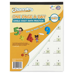 Channie's™ Math Line-Up One Page a Day Pads - Single-Digit Math
