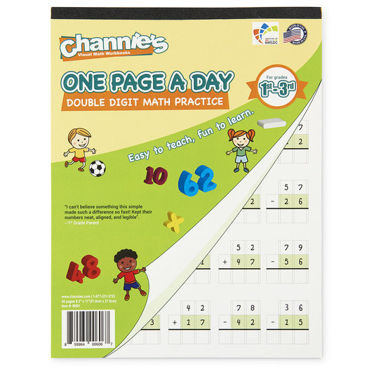 Channie's™ Math Line-Up One Page a Day Pads - Double-Digit Math
