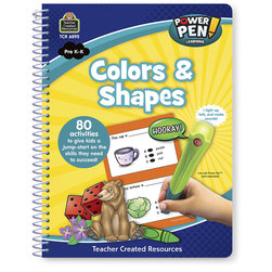 Power Pen™ Learning Book - Grades PreK-K - Colors & Shapes - 80 Activities