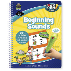 Power Pen™ Learning Book - Grades K-1 - Beginning Sounds - 80 Activities