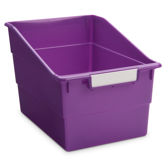 Tattle® Shelf Files - 8 in. W - Purple