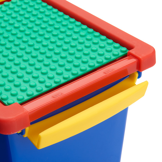 Snap Handle Totes with Building Block Plate - 11-1/2 in. L x 7 in. W x 3 in. H - Multi Primary