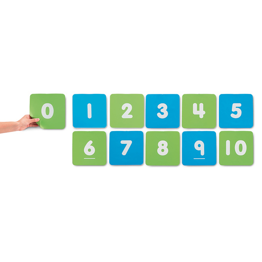 0-10 Number Pads - Set of 11