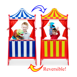 Reversible Floor-Standing Puppet Theater