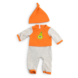 How to Dress Doll Clothes Collection - 15-3/4 in. Doll, Cold Weather Pajamas, Orange Stripes