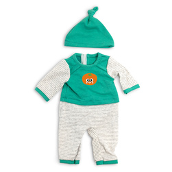 How to Dress Doll Clothes Collection - 15-3/4 in. Doll, Cold Weather Pajamas, Green Stripes