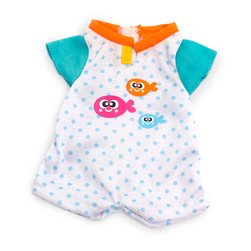 How to Dress Doll Clothes Collection - 12-5/8 in. Doll, Warm Weather Pajamas, Blue Dots