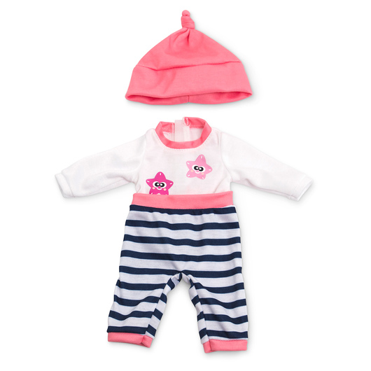 How to Dress Doll Clothes Collection - 12-5/8 in. Doll, Cold Weather Pajamas, Salmon
