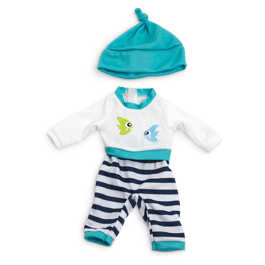 How to Dress Doll Clothes Collection - 12-5/8 in. Doll, Cold Weather Pajamas, Turquoise