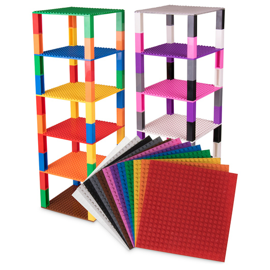 Strictly Briks® Brik Towers Pack of 12 Rainbow Colors