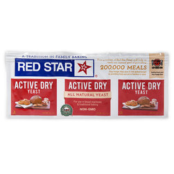 Yeast, Red star, Dry, pk/3