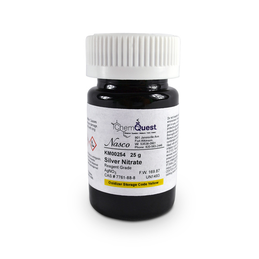 Silver Nitrate - 25 g, Reagent Grade Crystals