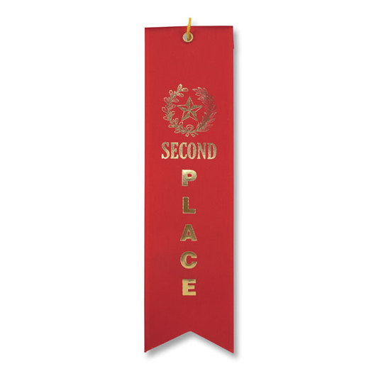 2nd Place Ribbon - Red