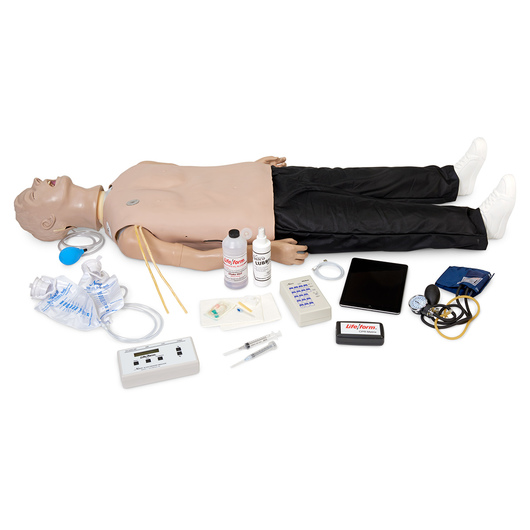 <strong>Life/form®</strong> Deluxe <q>Plus</q> <strong>CRiSis™</strong> Manikin with Advanced Airway Management, CPR Metrix, and iPad®*