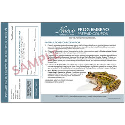 Refill Coupon for Live Frog Embryos