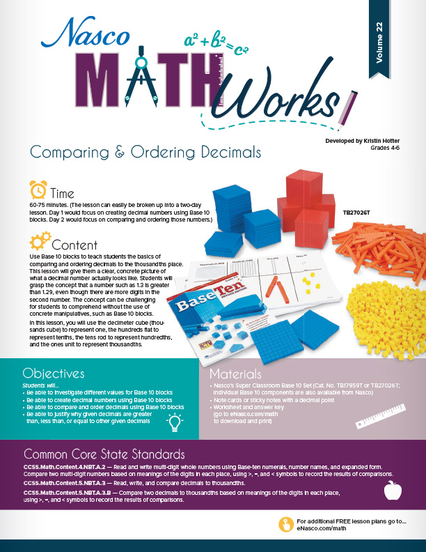 Free Activities & Lesson Plans Page   Math   Nasco