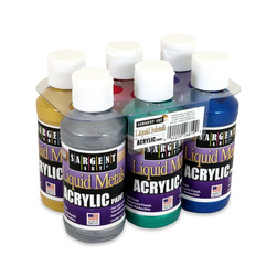 Sargent Art® Liquid Metals® Acrylic Paint Set, 4-oz. Bottles