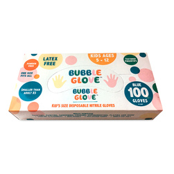 Bubble Glove Disposable Nitrile Gloves for Kids - 100 Box