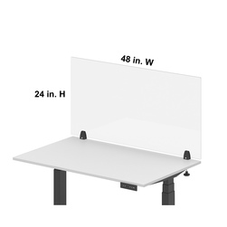 Luxor®RECLAIM® Acrylic Single Front Barrier 48 in. W x 24 in. H