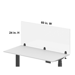 Luxor® RECLAIM® Acrylic Single Front Barrier 60 in. W x 24 in. H