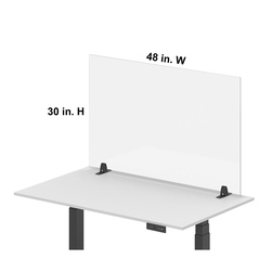 Luxor® RECLAIM® Acrylic Single Front Barrier 48 in. W x 30 in. H
