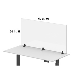 Luxor® RECLAIM® Acrylic Single Front Barrier 60 in. W x 30 in. H