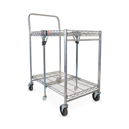 Bostitch® Chrome-Finish Stow-Away™ Folding Cart – Small – 31 in. L x 19-1/2 in. W x 39 in. H