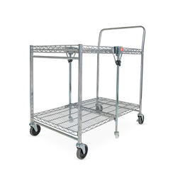 Bostitch® Chrome-Finish Stow-Away™ Folding Cart – Large – 37-1/2 in. L x 23-1/2 in. W x 39 in. H
