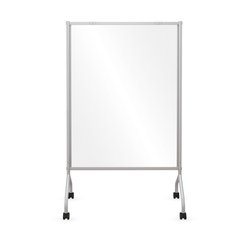 Clear Mobile Room Divider 38-1/2 in. W x 54 in. H