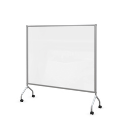 Clear Mobile Room Divider 68 in. W x 54 in. H