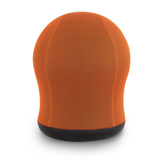Zenergy™ Swivel Ball Chair - 360° Swivel Base - 17-1/2 in. W x 17-1/2 in. D x 23 in. H - Orange Mesh