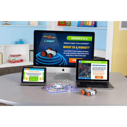 STEM:IT and ROBOT:IT Elementary Curriculum with Robotics Kit - 1-Year License