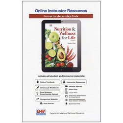 Nutrition & Wellness for Life Online Instructor Resources, 6-Year Subscription