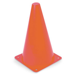 High Visibility Orange Cone - 9 in.