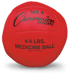 2-Kilo Leather Medicine Ball - Red